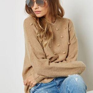 Cozy Camel Pom Sweater